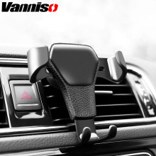Vanniso Gravity Car Holder For Phone in AirVent Clip Mount No Magnetic Mobile iPhone Smartphone Universal Bracket