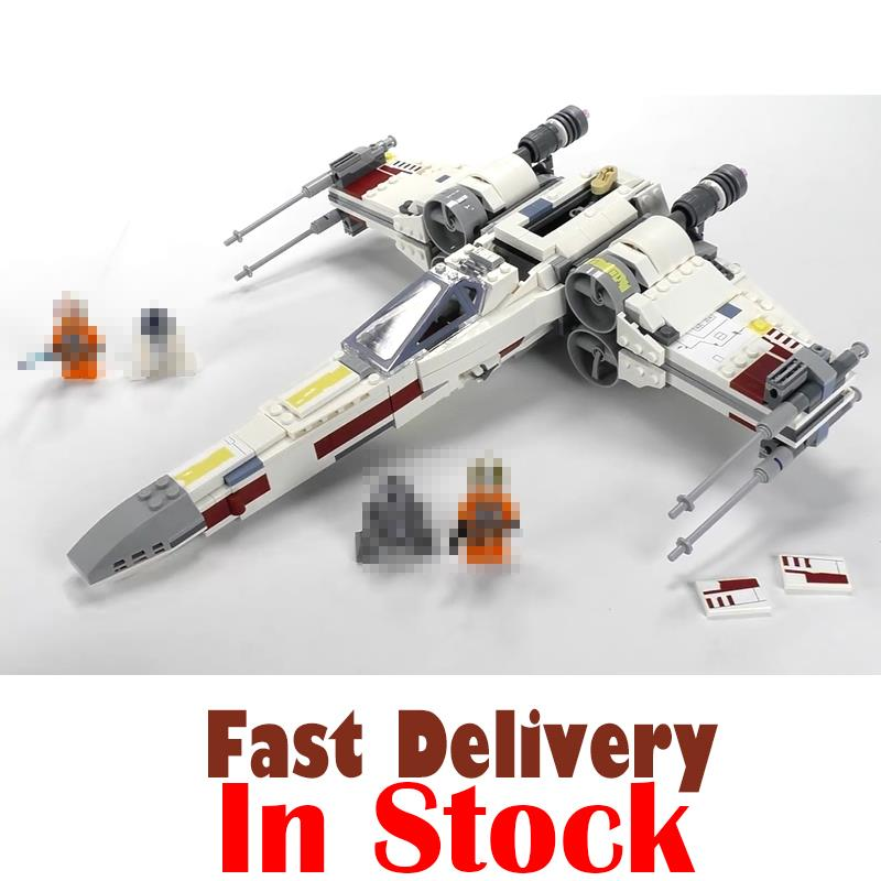 Lepin 05145 Star Series Wars X-Wing Starfighter Blocks Bricks Compatible Legoing 75218 Building Model Gifts Assembled DIY toys 722pcs lepin 05030 star wars vader tie advanced vs a wing starfighter 75150 building blocks compatible star wars brithday gifts