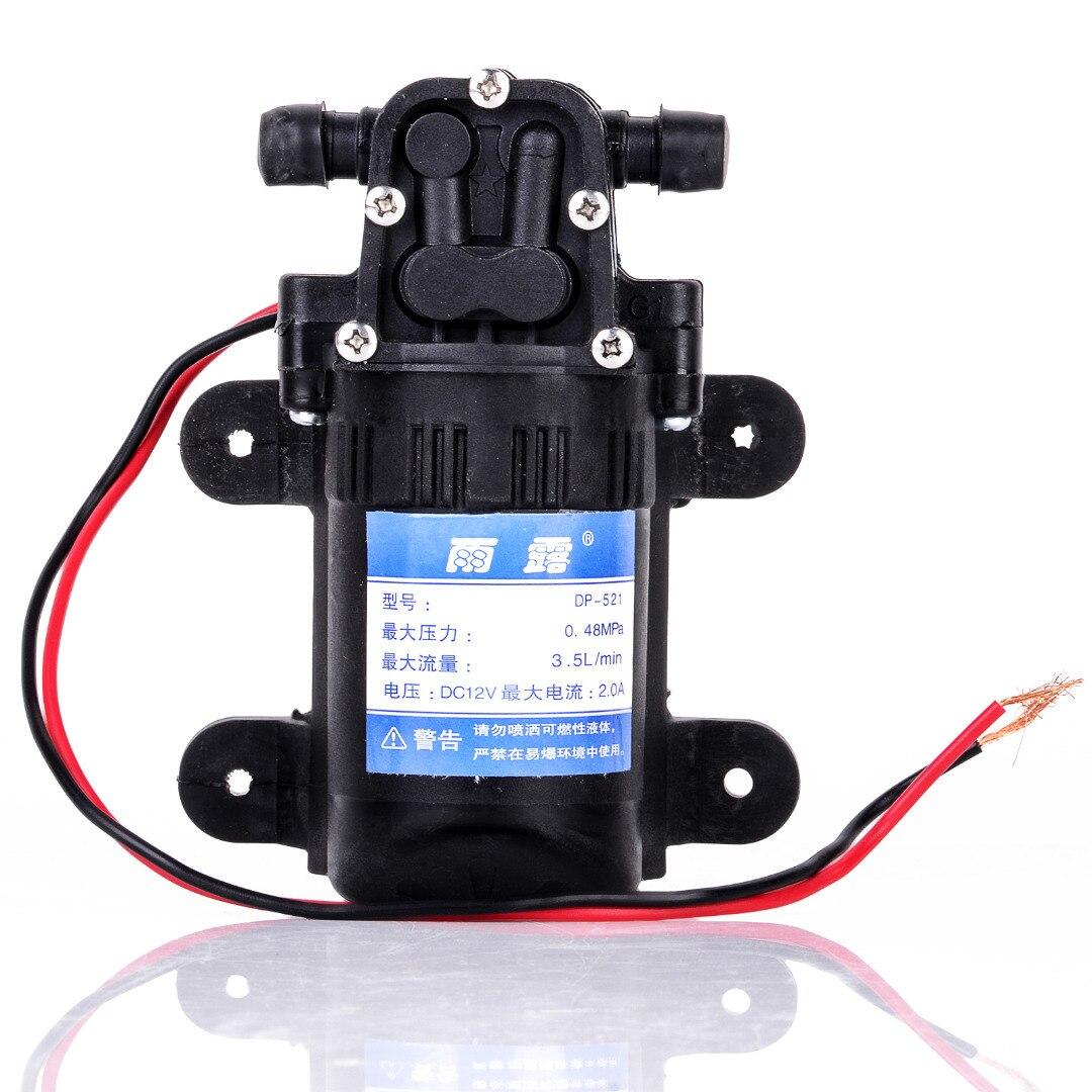 Durable DC 12V 70PSI 3.5L/min Agricultural Electric Water Pump Black Micro High Pressure Diaphragm Water Sprayer Car Wash 12 V 2