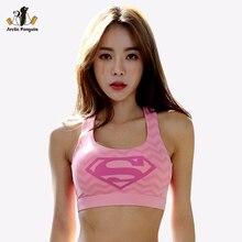 [AP] Female Sports Bra Fitness Yoga Tank Tops Padded Women Running Vest Batman New Captain America Supermen Crop Sport bra Top