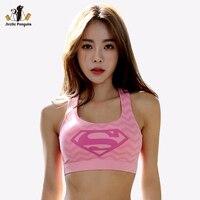AP Female Sports Bra Fitness Yoga Tank Tops Padded Women Running Vest Batman New Captain