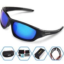 TOREGE Men's Fashion Polarized Sunglasses For Driving Glasses TR90 Unbreakable Frame Eyewear Unisex 100% UV400 Glasses
