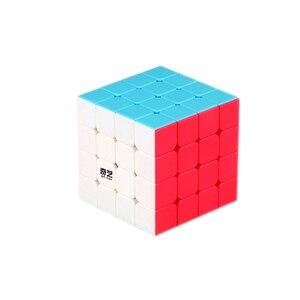 Image 4 - Qiyi XMD 4 Cubi Set Cubo Magico Set Comprende 2x2 3x3x3 4x4x4 5x5x5 Stickeless Cubo per il Cervello di Formazione giocattoli Per Bambini