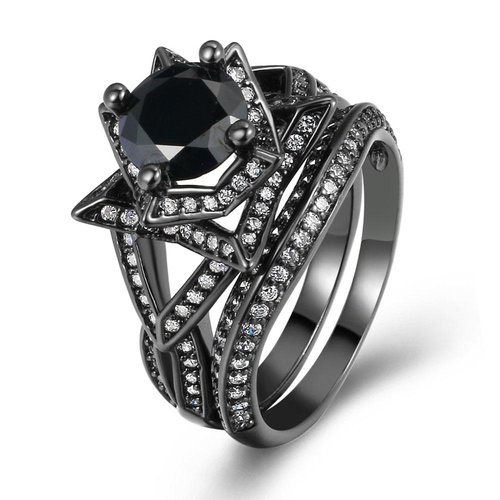 2016 Hot Sale New Arrival Black Gold Color Ring Vintage