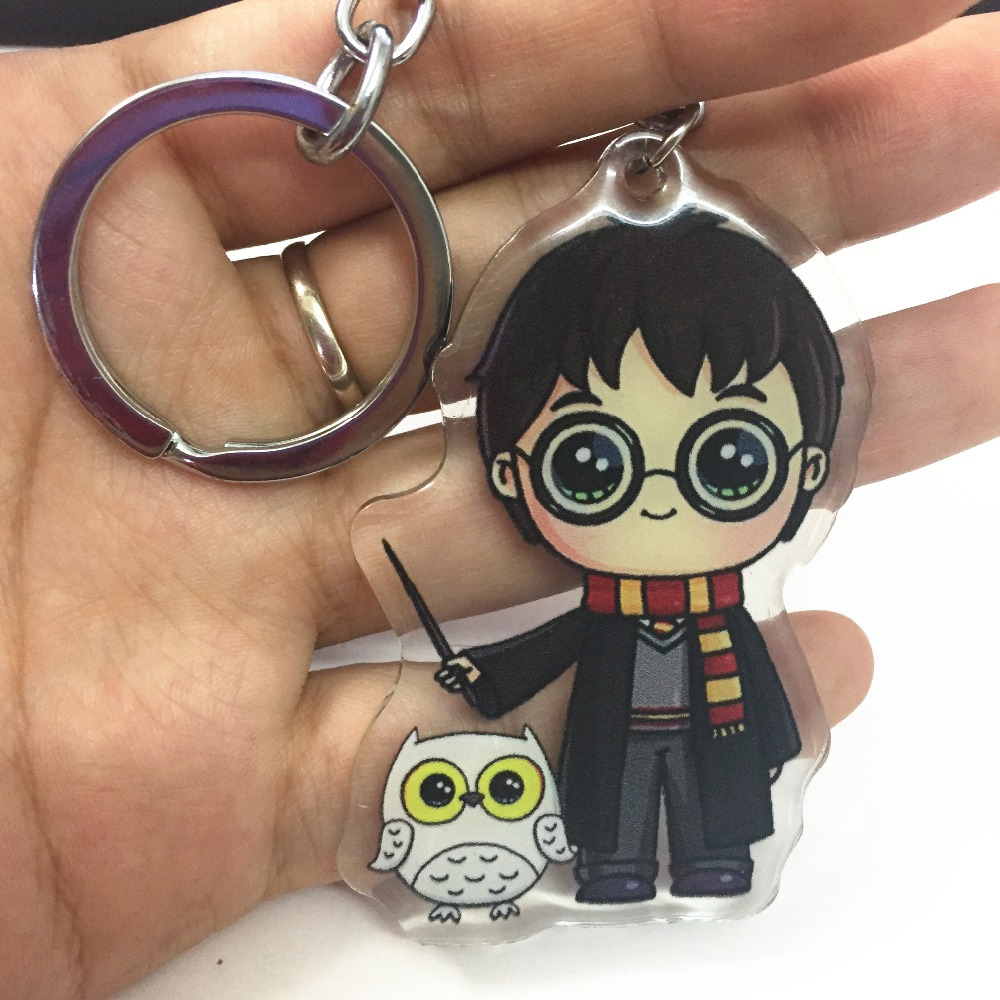 Cute Harri Potter with Hedwig Platform 9-3/4 Acrylic thicken PVC keychain keyrings backpack cloth accessories cosplay collection