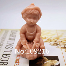 New Product!!1pcs 3D Lovely Girl Baby (zx216) Food Grade Silicone Handmade Soap Mold Crafts DIY Mould