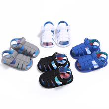 Fashion Baby Boys Summer Shoes 2017 New Infant Toddler Kids Crib Bebe Soft Soled Beach Cute First Walkers Footwear 2 Colors