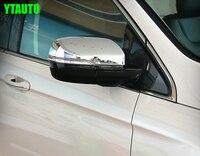 Achteruitkijkspiegel cover, auto zijspiegel cap voor Ford EDGE 2015, ABS chroom, auto-accessoires