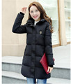 2016New Fashion Outerwear Long Winter Jacket Women Slim Female Coat Thicken Parka Down Cotton Overcoat Red Clothing Hooded  YY38