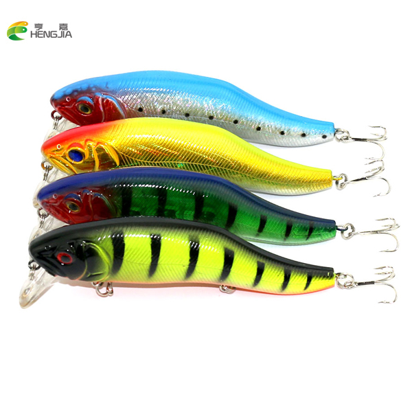 HENGJIA 4PCS Fishing lures Minnow High Quality Tackle 120mm 24.5g Wobblers Crankbait with 4# Hooks 3D Eyes