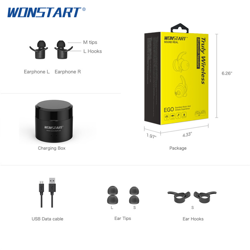 Wonstart W302 Bluetooth Earphone Sport Running Mini Wireless Earbuds With Mic In ear Earphones For iPhone Xiaomi huawei Phone bobo bird men watches women wooden bamboo watch ladies quartz lover s clock with leather strap as gift in wood box custom