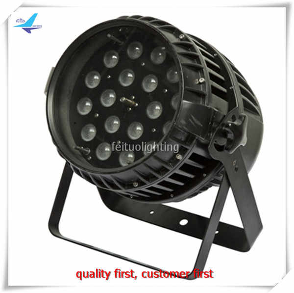 Super Bright Outdoor Led Zoom Par Stage Light 18x18w RGBWA UV 6IN1 Zoom Led Par IP65 Waterproof Par Cans DMX DJ Disco Lighting