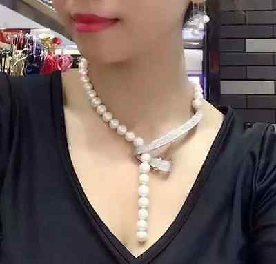 jewerly free shipping new desig south sea round 9-10mm white pearl necklace 24 fashion new classic 9 10mm south sea round white pearl necklace 60inch
