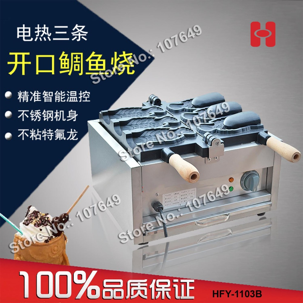 Commercial Use Non-stick 110v 220v Electric Bungeoppang Fish Ice Cream Taiyaki Maker Machine Baker Iron commercial non stick 110v 220v electric ice cream fish waffle taiyaki iron maker baker machine