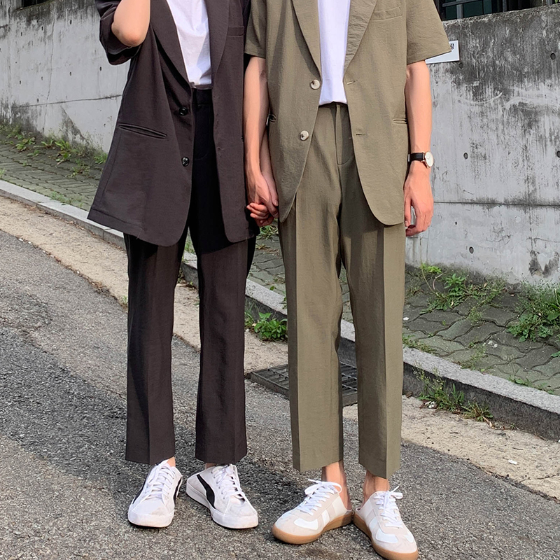 2019 Spring New Korean Version Of Business Wild High Quality Solid Color Suit Casual Nine Pants