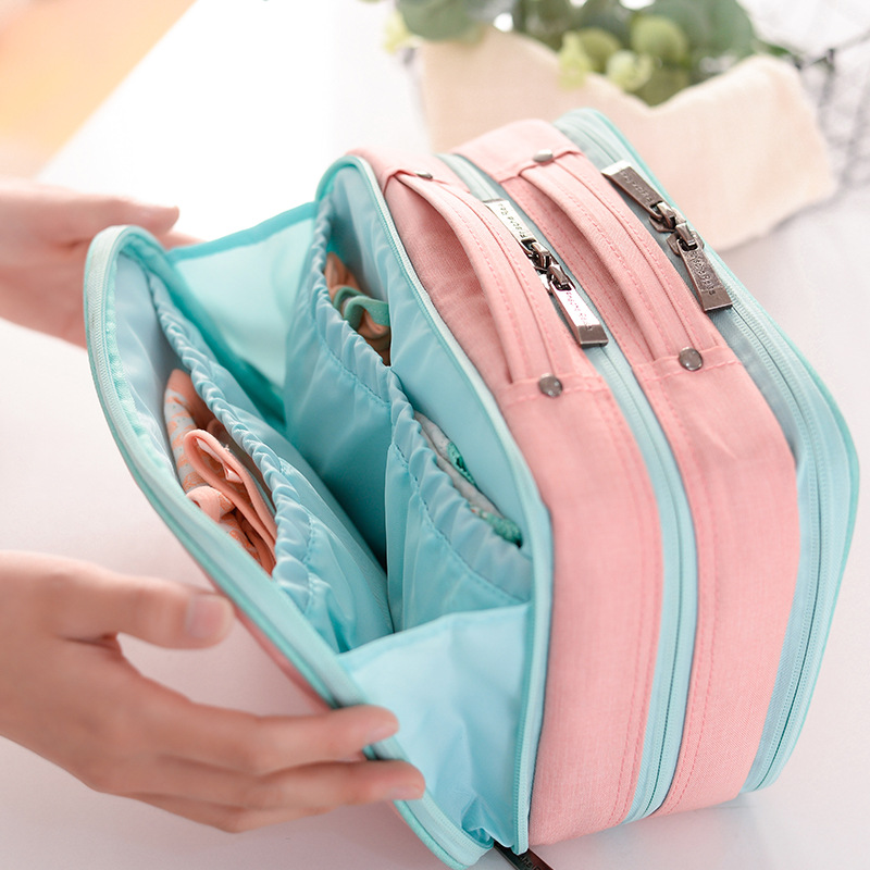 Image 4 - Pullable Multifunction Storage Bag Simple Large Capacity Separable Travel Cosmetic Storage Bag Wardrobe Underwear Organizer-in Storage Bags from Home & Garden