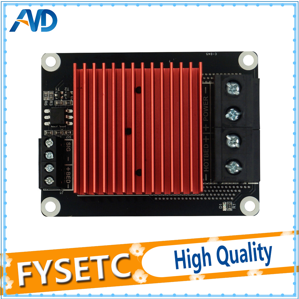 1pc Heatbed/Extruder 30A 5-24v Red Huge Heated Sinks Heating Controller MOS Module MKS MOSFET Board 3D Printer Parts For TEVO geeetech extruder 2 2 atmega168 controller board red