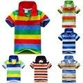 Lo nuevo Bebé Niño Cuello alto Camiseta A Rayas Casual Tops Niños T-shirt 1-7Y