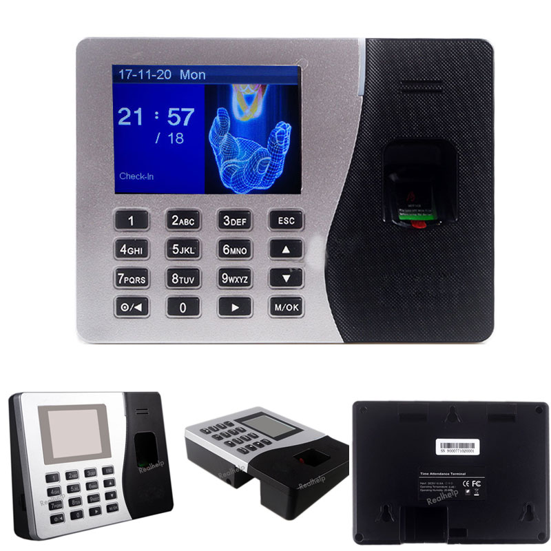 Time Attendance With Fingerprint Reader TCP/IP RJ45 Employee Biometric Attendance System Attendance Machine