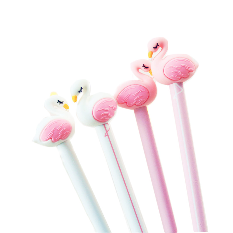 2pcs/lot cartoon Swan modeling gel pen students children writing stationery neutral pen office supplies kawaii decorations