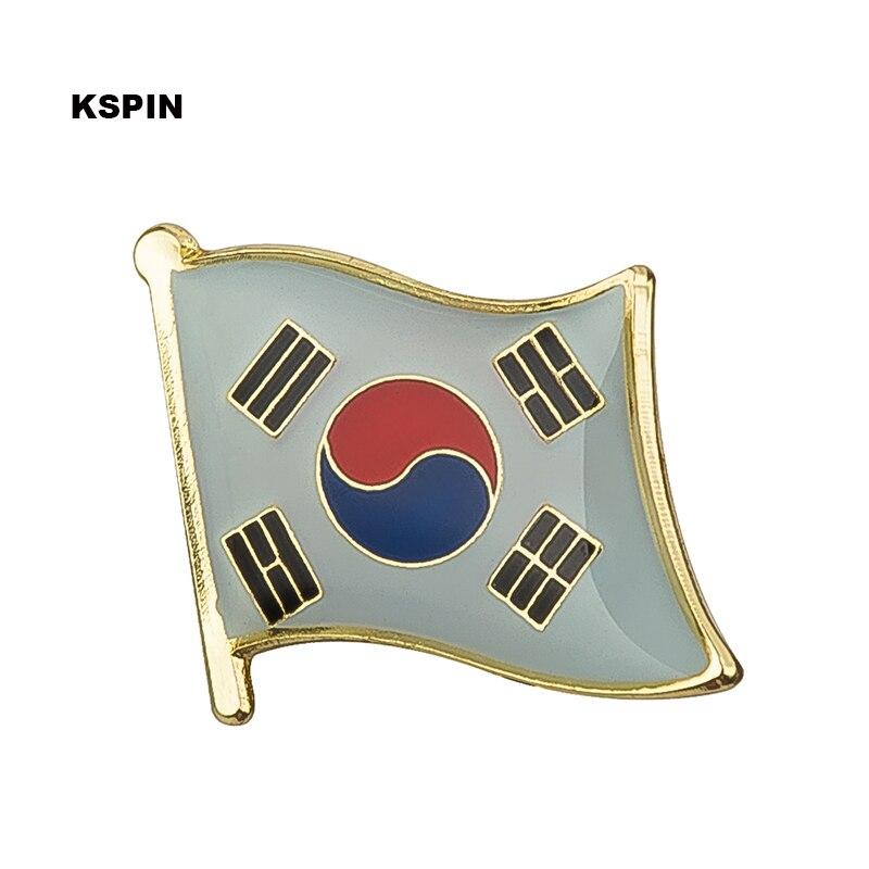 Ev ve Bahçe'ten Rozetler'de Güney Kore bayrak yaka iğnesi rozet pin 300 adet çok Broş Simgeler KS 0074'da  Grup 1