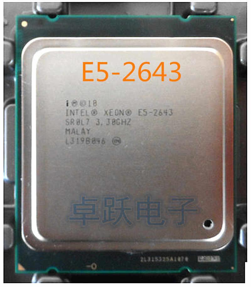 E5 2643  E5-2643 Original Intel Xeon 3.3GHz Quad-Core 10M Cache DDR3 1600MHz FCLGA2011 TPD 130W free shipping