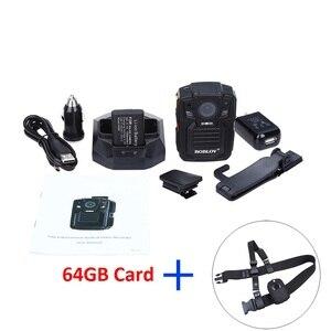 Image 5 - BOBLOV HD66 02 Ambarella A7L50 policja kamera do noszenia przy ciele 64GB HD 1296P rejestrator wideo + pasek na ramię