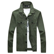 2017 spring Thin men's jacket coat , fashion simple single-breasted jacket,Fashion Slim military green coat , white