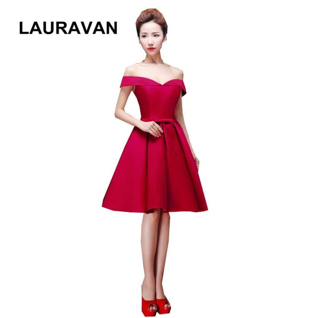 ebfcf318cf Moderno vestido de dama de honor corto vino color rojo adulto bridesmaids  vestidos de fiesta para