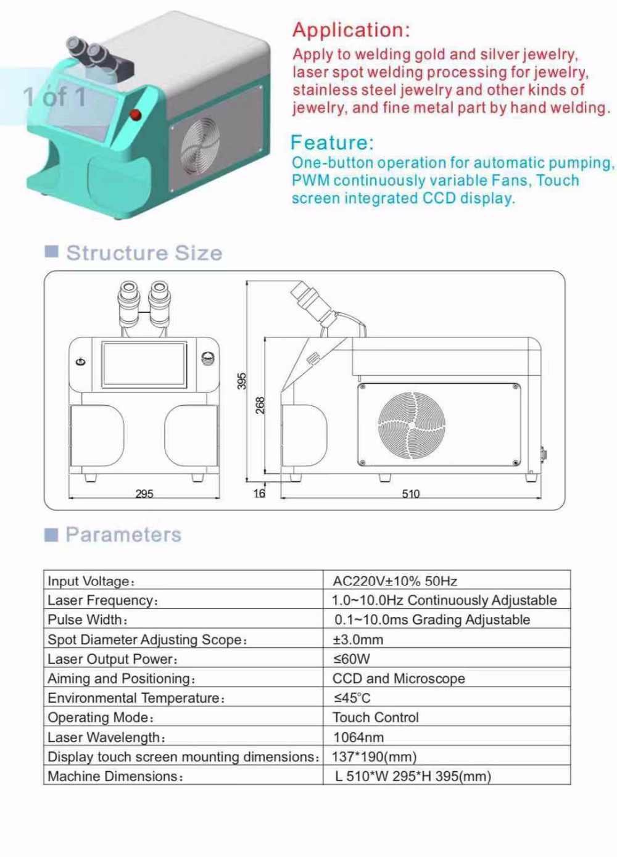 Китай производство высокой точности Nd: YAG Ювелирные изделия лазерная точечная сварочная машина 200 вт для золотистый, серебристый, металлический сварочный аппарат