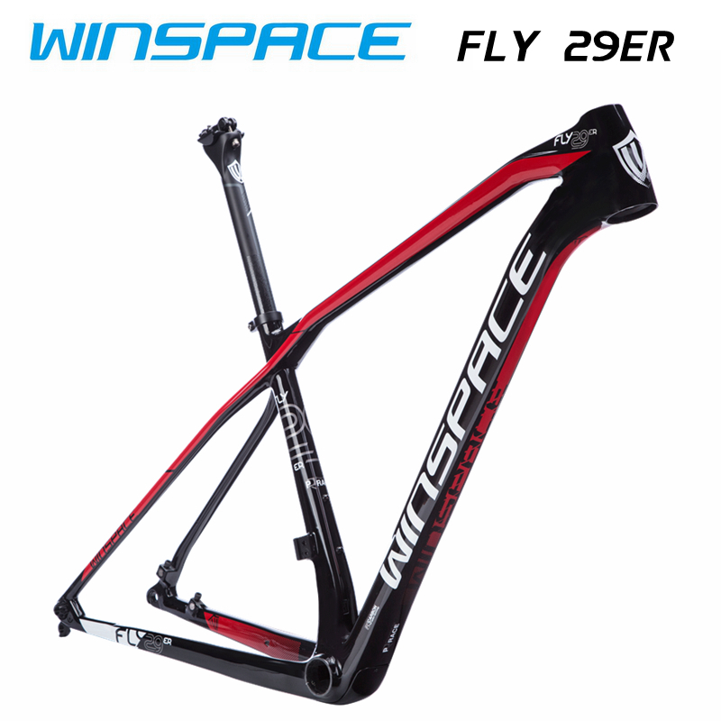WINSPACE FLY 29er MTB bike <font><b>frame</b></font> <font><b>carbon</b></font> fiber bicycle <font><b>frame</b></font> <font><b>carbon</b></font> XC <font><b>frame</b></font> 1160g image