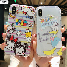 d7e334d58e2 Mickey Minnie Mouse oso Pooh Pato Donald par de cristal claro TPU Shell para  el iPhone