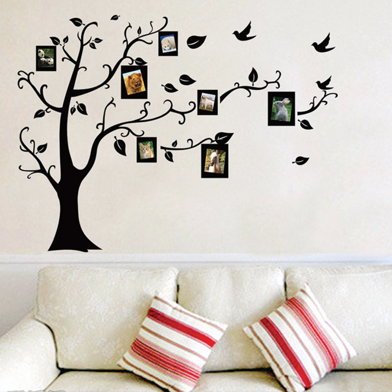 Photo Tree Frame Family Forever Memory Tree Wall Decals Removable Pvc Wall Sticker Home Decoration DIY
