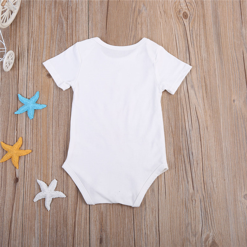 9fb3c9029845 Fashion Summer White Baby Bodysuits 0 24Months Twins Baby Boy Girl Clothes  1st Birthday Gift For Babies Newborn Baby Clothing-in Bodysuits from Mother  ...