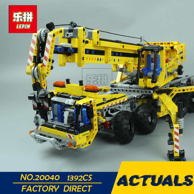 LEPIN 20040 1392Pcs Technic Mechanical Series The Moving Crane Set Educational Building Blocks Bricks Toys Model Gift 8053 lepin 02020 965pcs city series the new police station set children educational building blocks bricks toys model for gift 60141