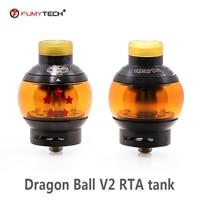 Original fumytech Dragon Ball RTA V2 Vape Tank 24mm 5.5ml capacity e cigarette Atomizer 810 drip tip VS Dragon Ball RDTA