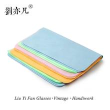 5PCS แว่นตาทำความสะอาดผ้าไมโครไฟเบอร์เหมาะสำหรับหน้าจอ, เลนส์ไนลอนหรือ Polaroid แว่นตา 15*18 ซม.สีสุ่ม