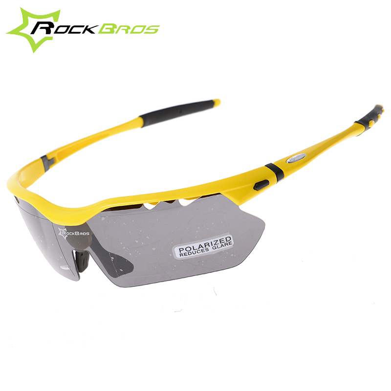 Hot! RockBros Polarized Cycling Sun Glasses Outdoor Sports Bicycle Glasses Bike Sunglasses TR90 Goggles Eyewear 5 Lens #10014
