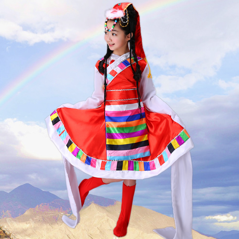 b642b00e2 The New Tibetan Dance Tibetan Clothing Costumes Ethnic Water Sleeves ...