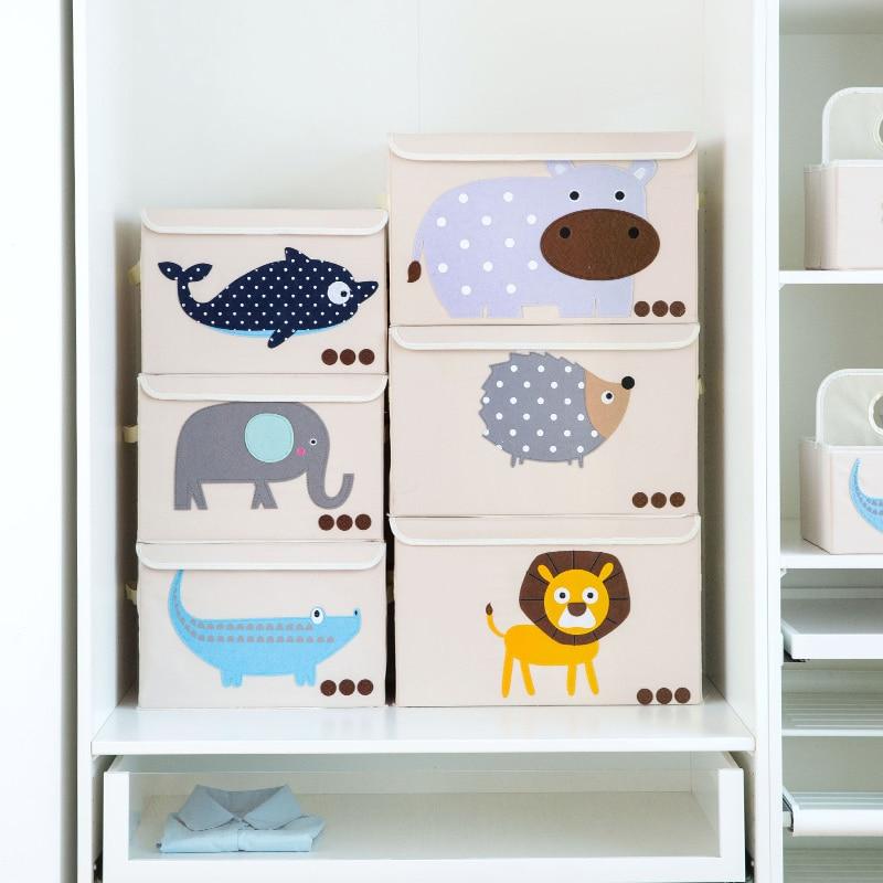 cloth cartoon with lid storage box clothes finishing box folding storage box square toy big box