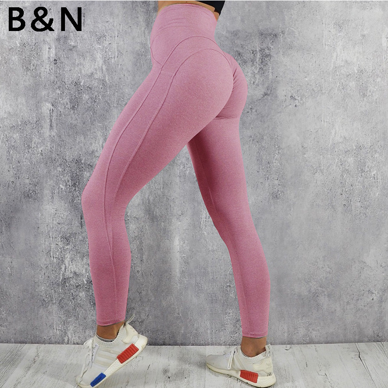 High quality Push up high waist leggings women sportswear athleisure bodybuilding ruched legging fitness clothes sporty jegging