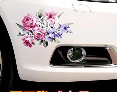 3D Creative Personality Flower Sticker Body Blocking Scratch Applique Waterproof Bumper Door Decoration Sticker-44
