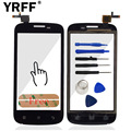 A+++  HighScreen Touch Glass For Lenovo A760  Touch Screen Digitizer Front Outer Glass Lens Sensor + Adhesive Free Shipping