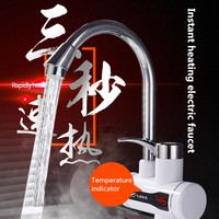 3000W Instant hot electric faucet kitchen digital display electric tap heater rapidly hot water heater small shower electric tap