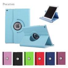 Caso para el ipad air2, Pocaton Cubierta para iPad Aire 2 de la tableta 360 Rotación Del Tirón de LA PU Cubierta Elegante Del Caso con la Función Del Soporte A1567