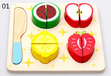 New wooden toy Fruits and vegetables dessert kitchen set Baby Free shipping