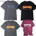 Kanbap1992 trasher t Shirt Men women skateboards tee short sleeve skate tshirts tops hip hop tshirt homme man t shirts