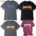 Kanbap1992 trasher t Shirt das mulheres Dos Homens skates skate tshirts tee manga curta tops hip hop tshirt homme man t shirts