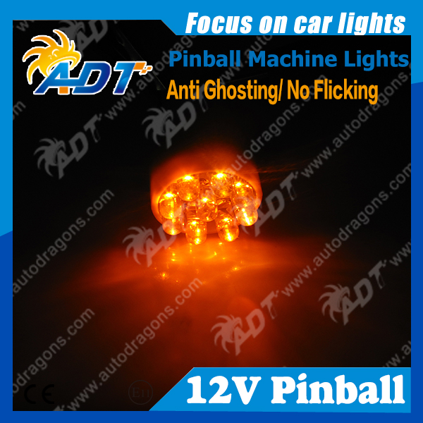 100pcs 9* flux Chip pinball LED Lights Non ghosting AC 12V13V T15 921 #906 lager Wedge Flasher led pinball game machine parts