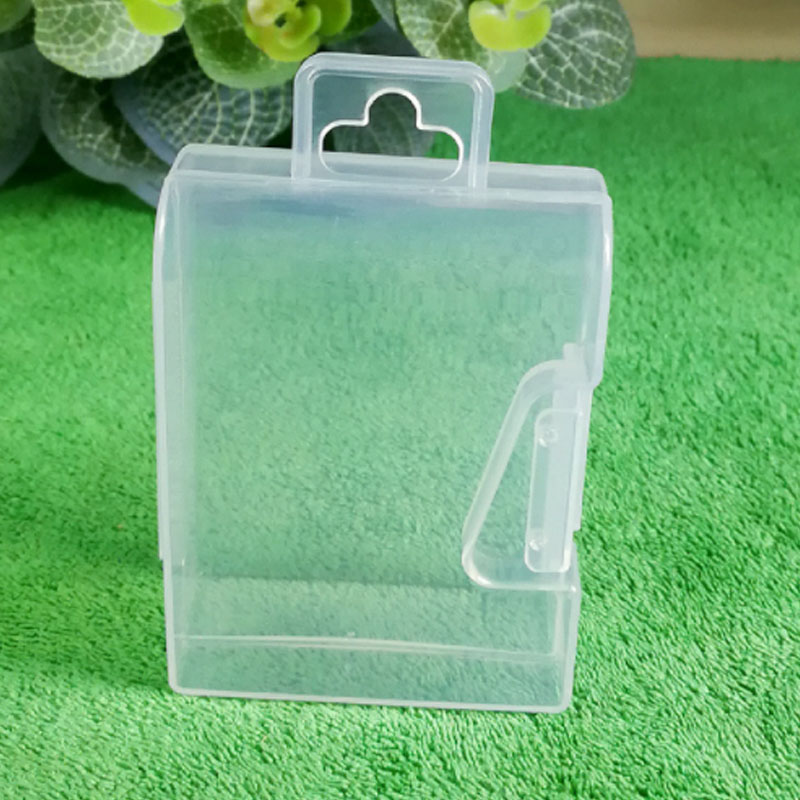 Mini PP Plastic Small Clear Case Storage Box Jewelry Pin Digital Electronic Accessories Carrying Case 5PCS
